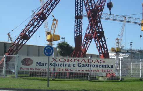 cartel de las xornadas en el puerto